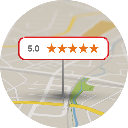Map with 5-star pin